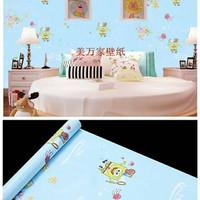 6193 wallpaper stiker uk 45cmx10m, spongebob biru