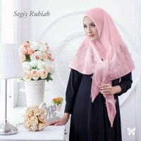 kerudung jilbab organza dot rubiah instan segitiga