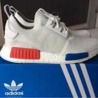 c4f8ec91144f9 Sepatu adidas NMD R1 PK vintage white og red premium