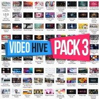 40 DVD VIDEOHIVE Pack 3 Template After Effects 2016 BONUS DOMPET CD