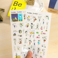 Stiker kecil korea buku catatan/harian gambar kartun KSY101