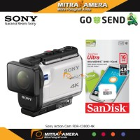Sony Action Cam FDR-X3000 4K + MicroSDHC 16gb Diskon