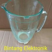 Gelas Kaca jus Blender Philips HR 2115 / 2116 / 2061 / 2071 Ori