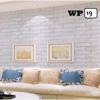 Wallpaper Sticker 45 cm x 10 m - WP 14 Bata Putih Semen