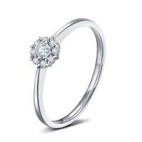 Cincin Wanita Emas Berlian/Diamond Asli Nikah/Tunangan/Kawin/Wedding