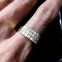 Cincin Emas Wanita Elegant Fashion/Tunangan/Nikah/Kawin/Wedding Murah