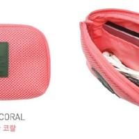 TN037 Tas Gadget S Tempat Kabel Charger Headset Organizer Travel Pouch