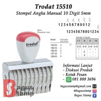 Stempel Angka Manual 10 Digit 5mm Trodat 15510