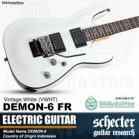 SCHECTER DEMON 6 FR Vintage White Gitar Elektrik - Guitar Electric