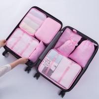 PANACHE - Travel Luggage Packing Organizer with Shoes Bag, 8 pcs 1 Set