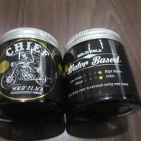 CHIEF SOLID BLACK POMADE WATERBASED 4.2OZ FREE SISIR - GLASS JAR
