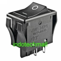 Rocker Switch Nikkai NKK 10A 250V JW-M21 Japan DPST 4pin