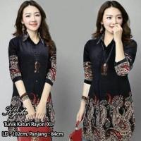 Tunik Kyoko Batik/atasan muslim wanita/baju tunik murah/atasan wanita