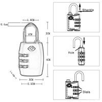 Gembok TSA 335 Koper Kode Angka - YiFeng