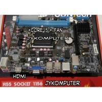 Processor Core i5 650 3.2 ghz turbo upto 3.4 ghz + Motherboard H55
