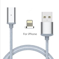Kabel Magnetic Cable Charger Lightning iPhone USB 2.4A Fast Charging