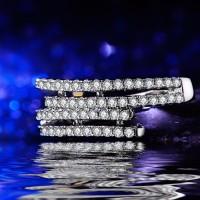 Cincin Berlian Silver Emas Putih (Perhiasan Imitasi Elegan)