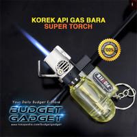 Korek Gas Bara Windproof Powerful Gas Torch Flame