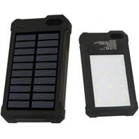 Jual SINOFER POWER BANK 2 USB 12000mAh with SOLAR PANEL - BLACK Murah