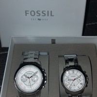Fossil Watch Couple Silver (Authentic)