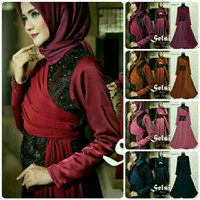 Dress Gamis Party/wisuda/kondangan 2017 Best Seller