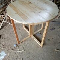 Meja Makan Kaki Bisa di Lipat Dari kayu Jati Belanda