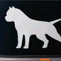Sticker American Bully Pitbull Silver new