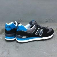 Sepatu New Balance 574 Black Grey Blue