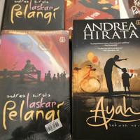 Novel ANDREA HIRATA - 1 PAKET 2 BUKU [ AYAH , LASKAR PELANGI ]