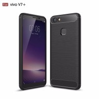 Hard Soft Case VIVO V7 Plus Casing HP IPAKY Carbon Armor Silikon Cover