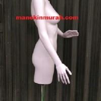 Manekin half body wanita bahan plastik tanpa kepala