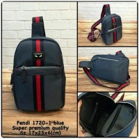 Waist Bag FENDI Blue Premium kode 1720-1