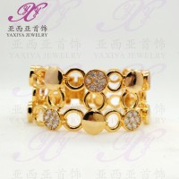 Gelang lapis emas Gem chain Perhiasan imitasi 18k Yaxiya Jew T2909