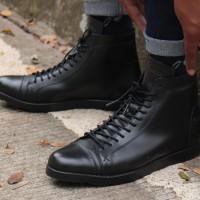 Jual Sepatu boot Pria Boston Legion Full Black (brodo,converse,kicker,bally Murah