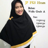 JP PKS Kuning 115x115 Jilbab Pelangi Segi Empat Wolfis Polos Palestine