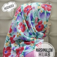Hijab Segiempat Maxmara Motif / Jilbab Instan / Kerudung / Square