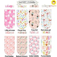 Jual Bedong Instan Swaddle Cocoon Girl Series ( Instant Swaddle + Ribbon ) Murah