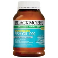 Blackmores Fish Oil Odourless 400 Capsule Minyak Ikan Black Mores