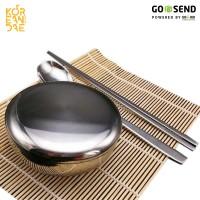 Jual Paket Korean Rice Bowl (Mangkuk Stainless + Sujeo + Bamboo Mat Murah