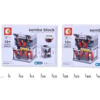Lego Merk Sembo Block models HSBC BANK 249 pcs lighting LED