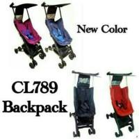 Jual Stroller Cocolatte Pockit 5 CL 789 With Backpack Purplish Red Gen 5 Murah