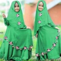 Syari Anak Najwa Hijau Muda Sw Baju Muslim Anak Perempuan Jersey