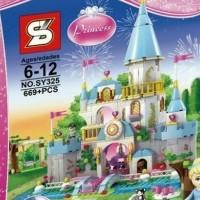 Brick Lego - 41055 - SY325 SY 325 Cinderella Romantic Castle 669 Pcs