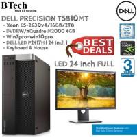 DELL T5810 MT Xeon E5-2630v4 + P2417H ( 24 Inch FULL )