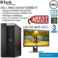 DELL T5810 MT Xeon E5-1630v4 + P2417H ( 24 Inch FULL )