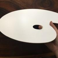 Palet Cat Kayu Oval / Lonjong / Pallete Cat minyak akrilik