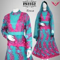 Gaun Pesta Muslimah Brokat Premium Arabic 2252