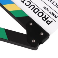 Cuci Gudang!! Colorful Clapperboard Tv Movie Film Clapper Board Slate
