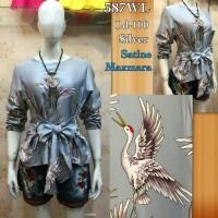 Pakaian blouse satin import cewek klp BB17