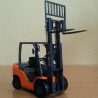 Hot Sale Miniatur Forklift Truck - Diecast Alat Berat Forklift KDW